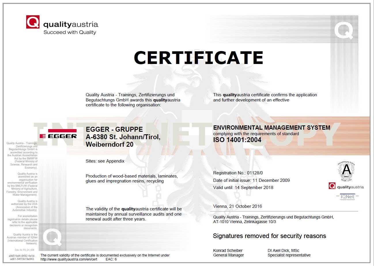 CF EGGER ISO 14001 EN